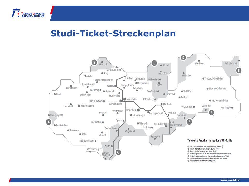 www.uni-kl.de Studi-Ticket-Streckenplan