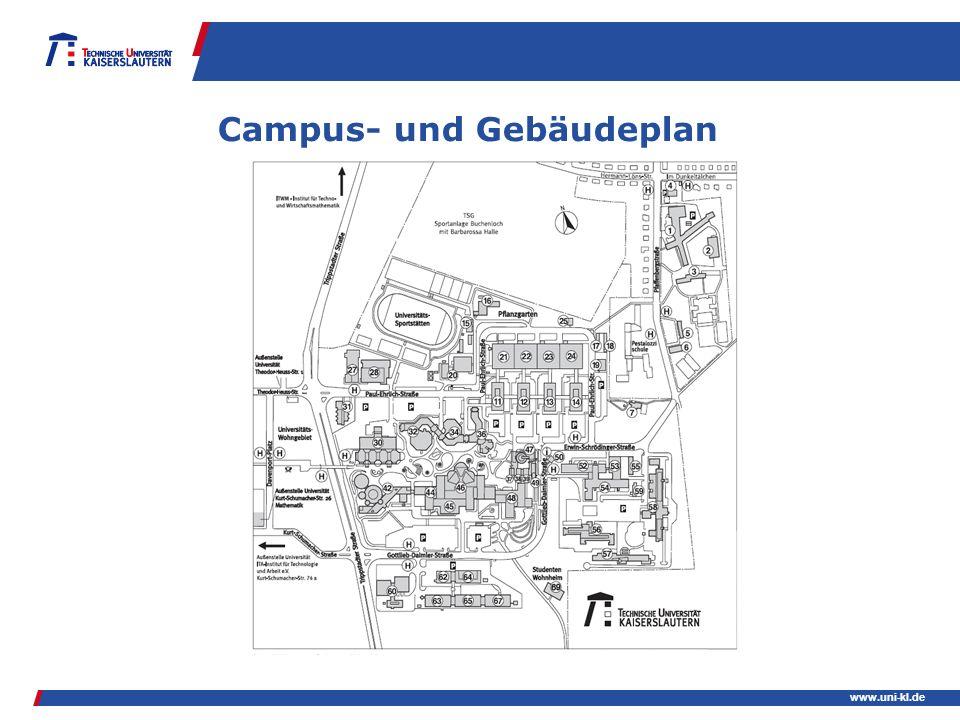 www.uni-kl.de Campus- und Gebäudeplan