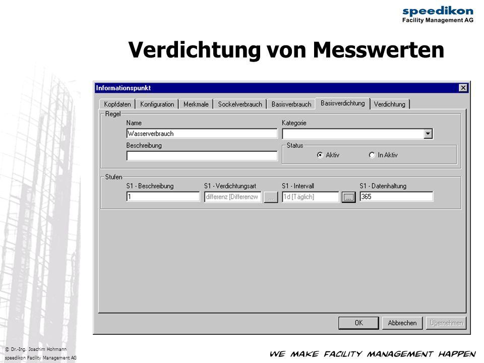 © Dr.-Ing. Joachim Hohmann speedikon Facility Management AG Verdichtung von Messwerten