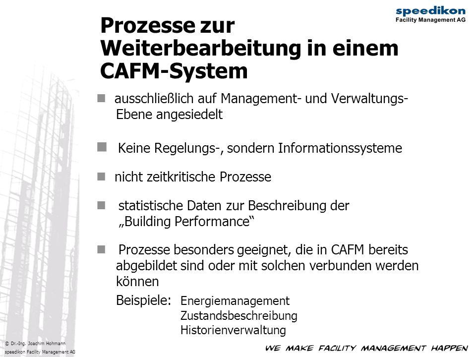 © Dr.-Ing. Joachim Hohmann speedikon Facility Management AG ausschließlich auf Management- und Verwaltungs- Ebene angesiedelt Keine Regelungs-, sonder