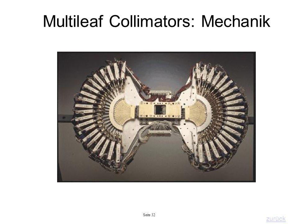 Seite 32 Multileaf Collimators: Mechanik zurück