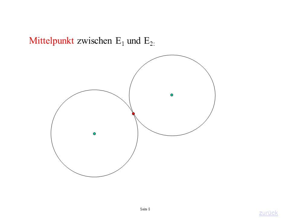 Seite 8 Mittelpunkt zwischen E 1 und E 2: zurück
