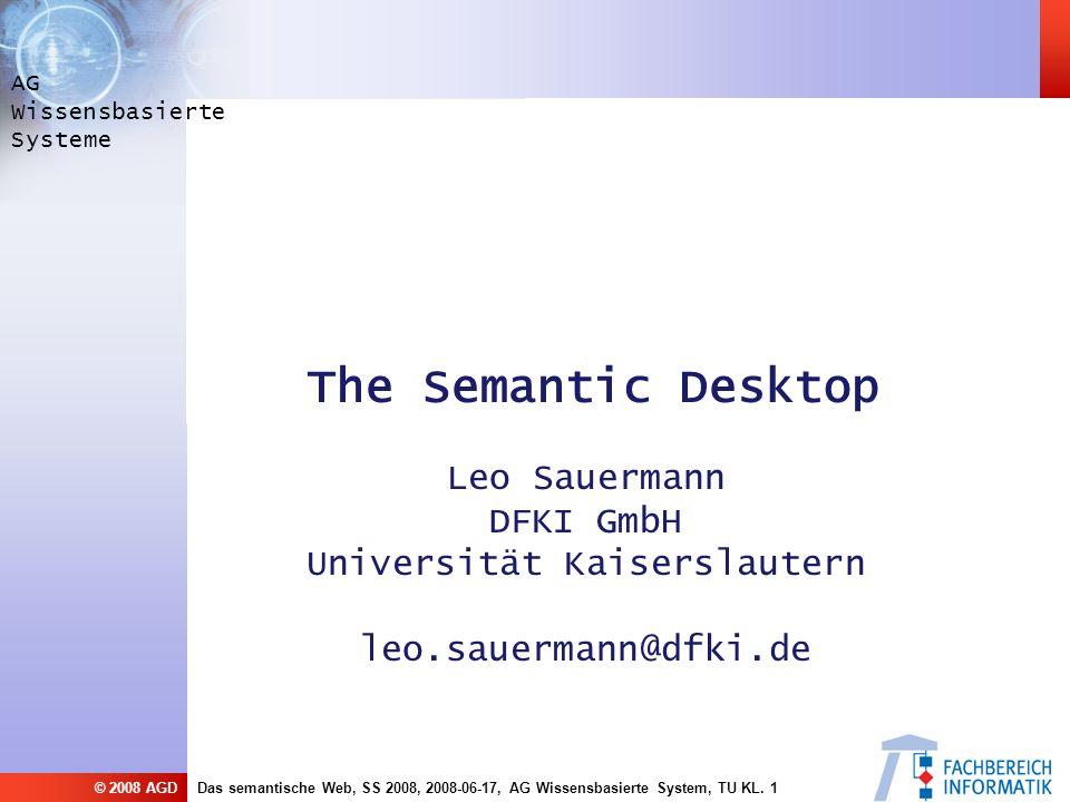 Das semantische Web, SS 2008, 2008-06-17, AG Wissensbasierte System, TU KL.