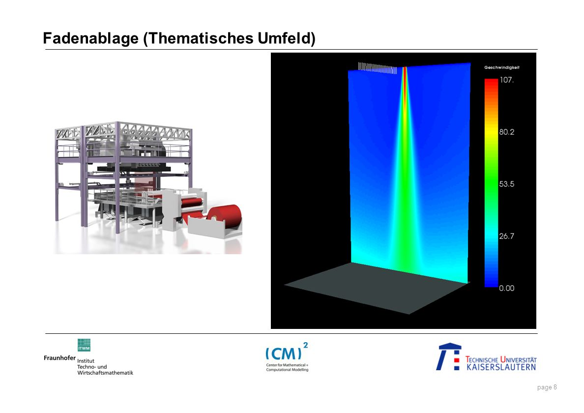 page 9 Entwicklung und Untersuchung eines stochastischen Ersatzmodells + stochastische Kräfte (Turbulenz), Strömung, Wechselwirkungen, ….