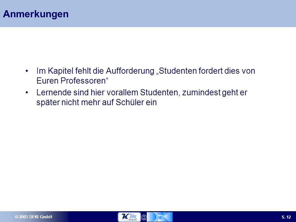 © 2003 DFKI GmbH S.