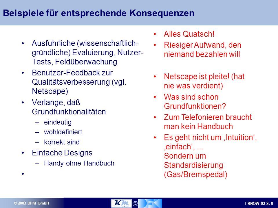 © 2003 DFKI GmbH I-KNOW 03 S.