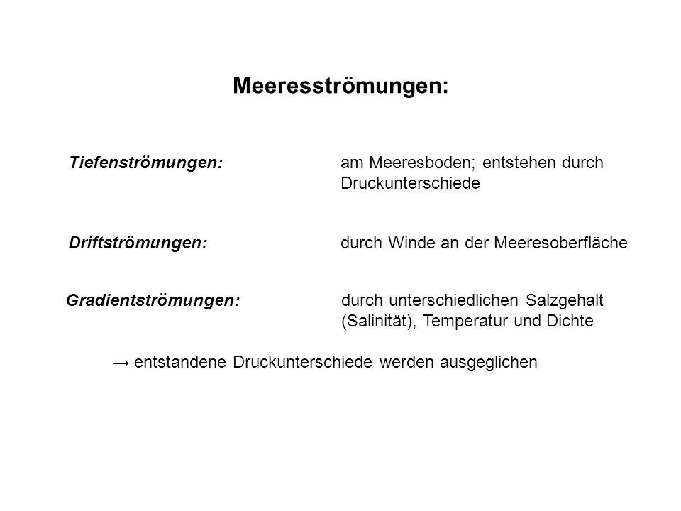 Meeresströmungen: kalte Meeresströmungen: z.B.