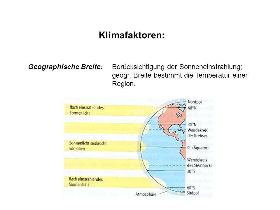 Klimafaktoren: Lage zum Meer: a.d.