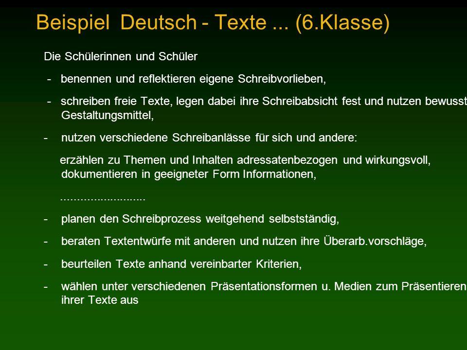 Beispiel Deutsch - Texte...