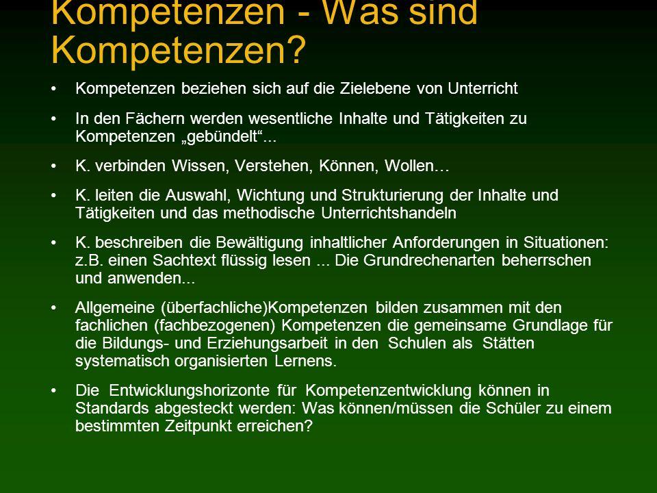 Kompetenzen - Was sind Kompetenzen.
