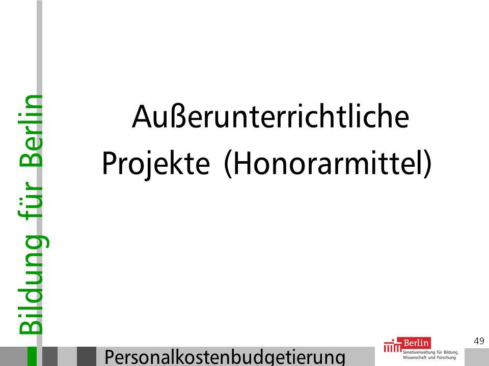 Bildung für Berlin Personalkostenbudgetierung 48 Einstellungen: Beendigung der Vertretung Verantwortung der Schulleitung: Vertretungsgründe prüfen! Ke
