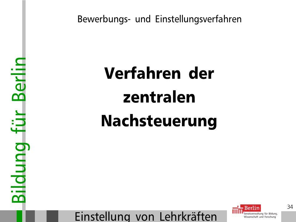 Bildung für Berlin Einstellung von Lehrkräften 33 Der Arbeitsvertrag: Zuständige Personalstelle schließt Arbeitsvertrag (SE P in der Flottenstrasse) A