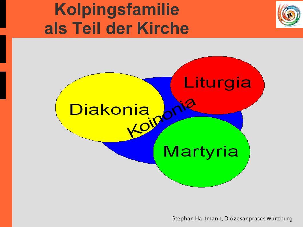 Stephan Hartmann, Diözesanpräses Würzburg Kolpingsfamilie als Teil der Kirche