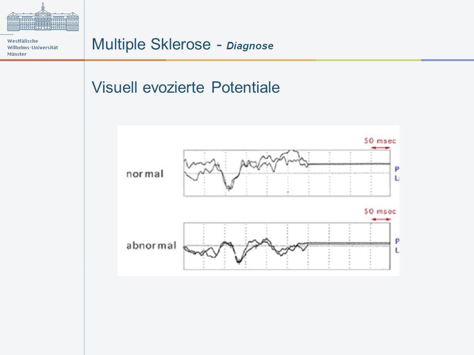Multiple Sklerose - Diagnose Visuell evozierte Potentiale
