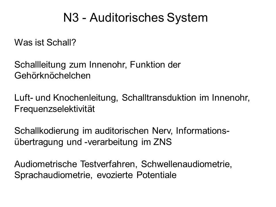 N3 - Auditorisches System Was ist Schall.