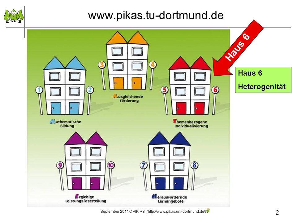 2 September 2011 © PIK AS (http://www.pikas.uni-dortmund.de/) www.pikas.tu-dortmund.de Haus 6 Heterogenität