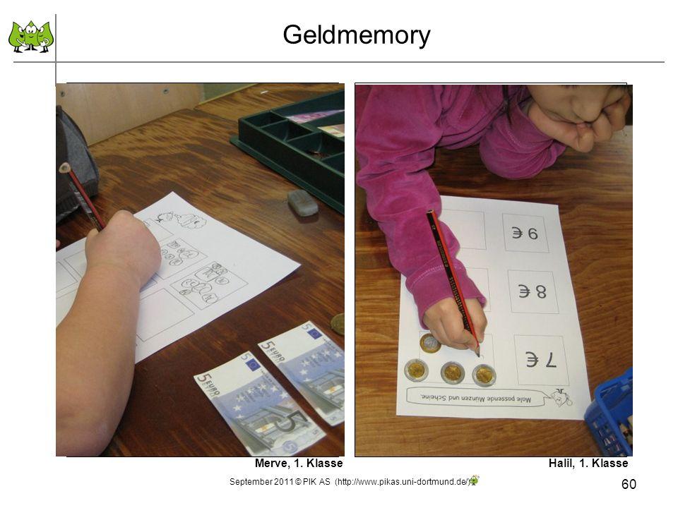 60 Geldmemory Merve, 1. KlasseHalil, 1. Klasse September 2011 © PIK AS (http://www.pikas.uni-dortmund.de/)