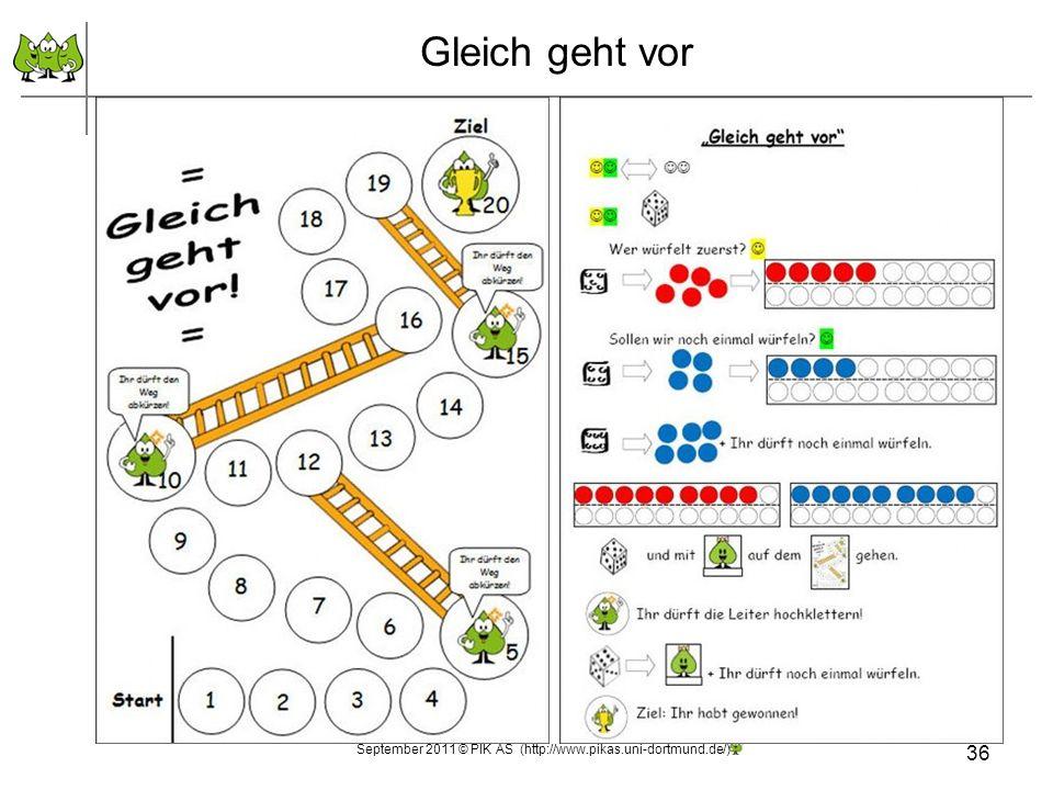 Gleich geht vor September 2011 © PIK AS (http://www.pikas.uni-dortmund.de/) 36