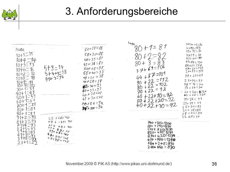 3. Anforderungsbereiche 36 November 2009 © PIK AS (http://www.pikas.uni-dortmund.de/)