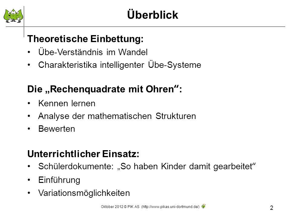 Altes Üben - Der noch farblose Hund 3 Quelle: Wittmann 1994, S.161 Oktober 2012 © PIK AS (http://www.pikas.uni-dortmund.de/)