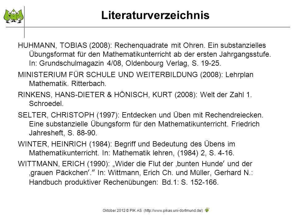 HUHMANN, TOBIAS (2008): Rechenquadrate mit Ohren.