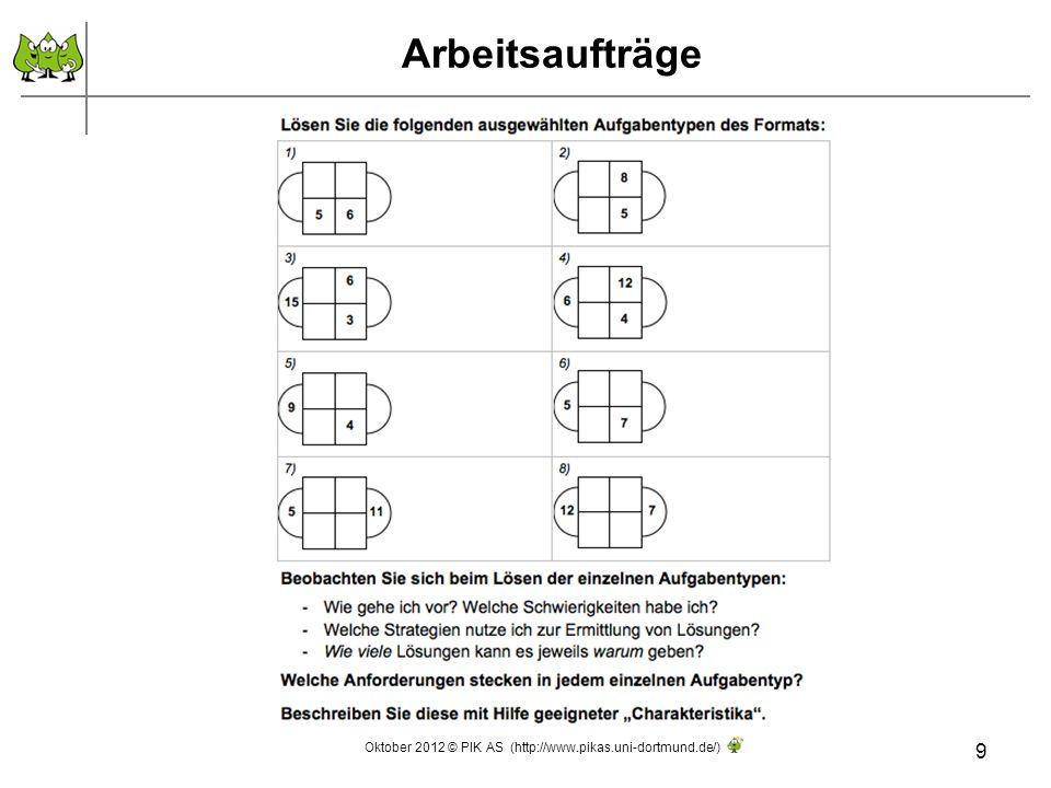 Ausgewählte Forscheraufträge 10 1.Bei welchen Rechenquadraten sind die beiden äußeren Zahlen gleich.