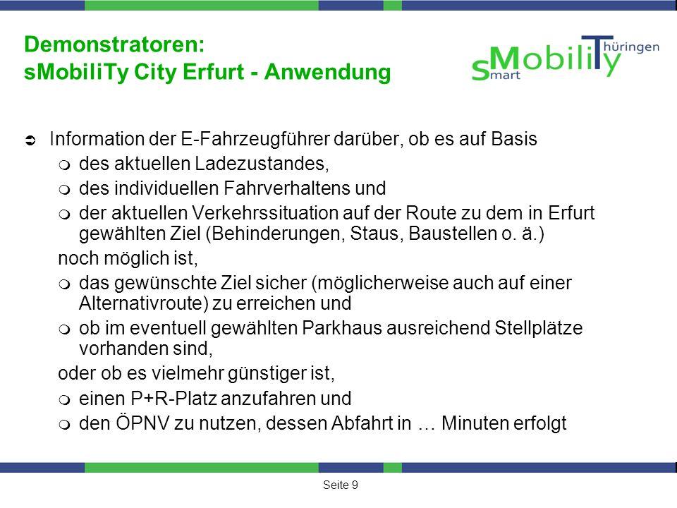 Seite 10 Demonstratoren: sMobiliTy City Erfurt – Geografie