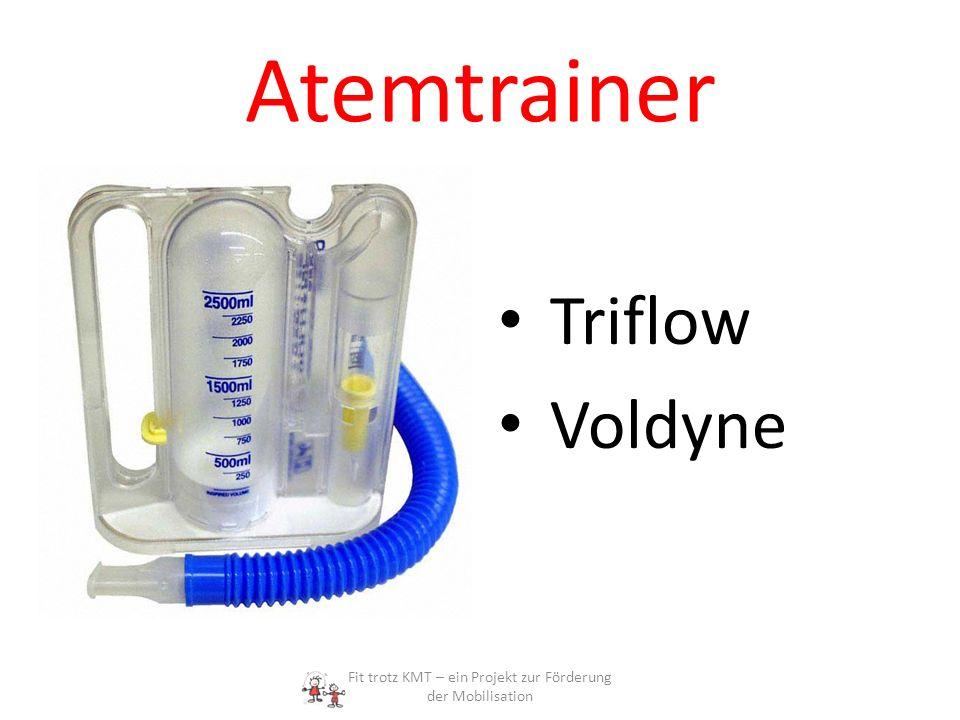 Atemtrainer Triflow Voldyne Fit trotz KMT – ein Projekt zur Förderung der Mobilisation