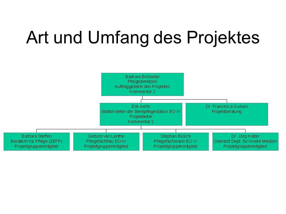 Verlauf und Entstehung des Projektes –Definition Fehler: –ein Fehler ist ein Ereignis mit Folgen für den Patienten oder die Patientin.