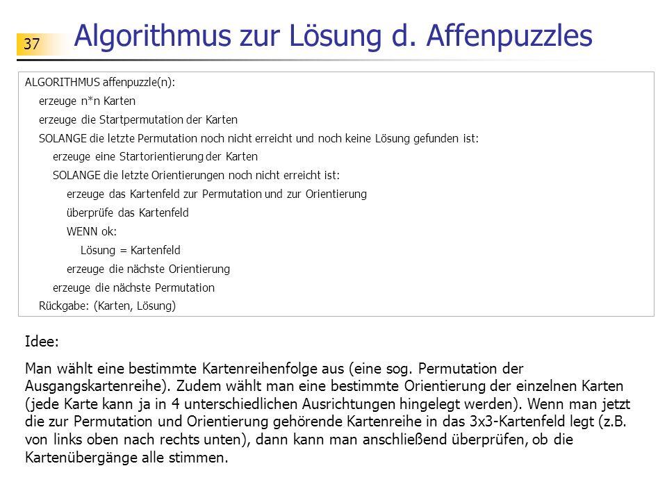 37 Algorithmus zur Lösung d.