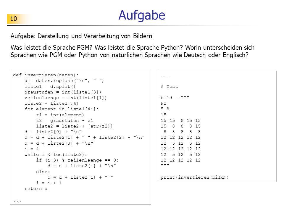 11 Aufgabe Aufgabe: Darstellung von Musik (a) Verstehst du die Sprache ABC.