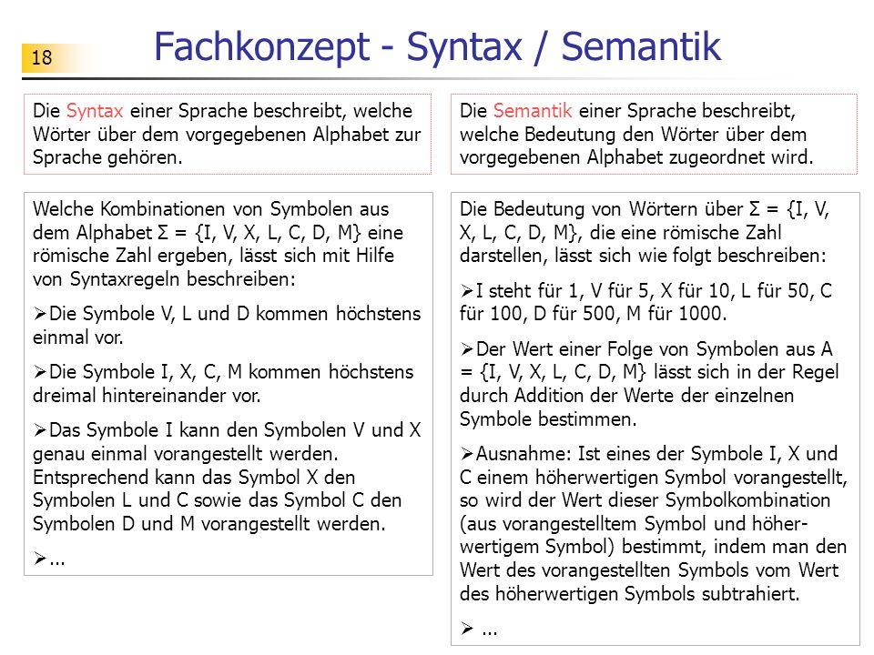 19 Trennung zwischen Syntax u.Semantik Alphabet: Σ = {i, p, g, s}.