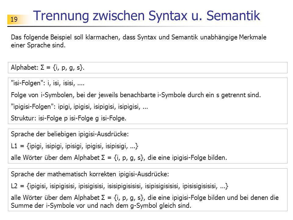 20 Trennung zwischen Syntax u.