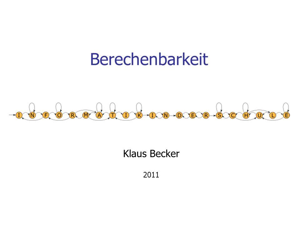 Berechenbarkeit Klaus Becker 2011