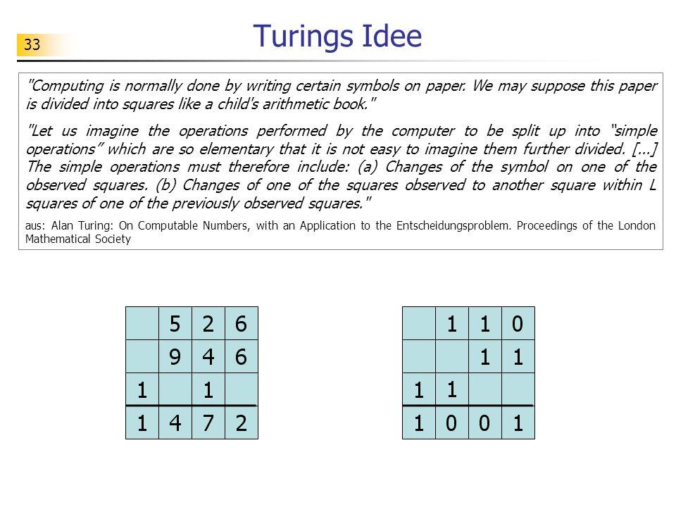 33 Turings Idee