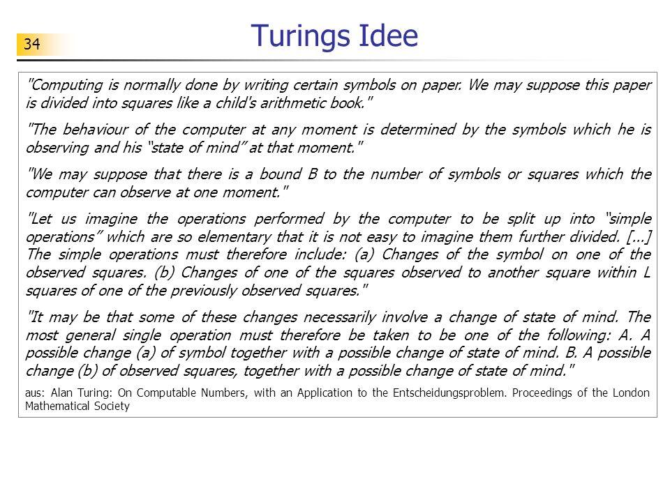 34 Turings Idee