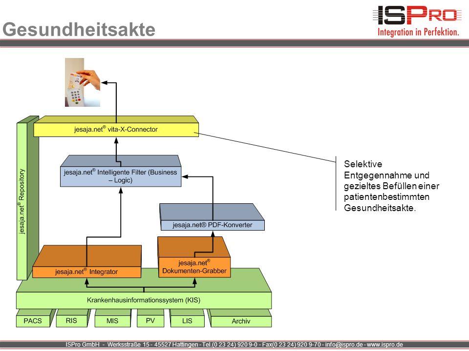 ISPro GmbH - Werksstraße 15 - 45527 Hattingen - Tel.(0 23 24) 920 9-0 - Fax(0 23 24) 920 9-70 - info@ispro.de - www.ispro.de Gesundheitsakte Selektive
