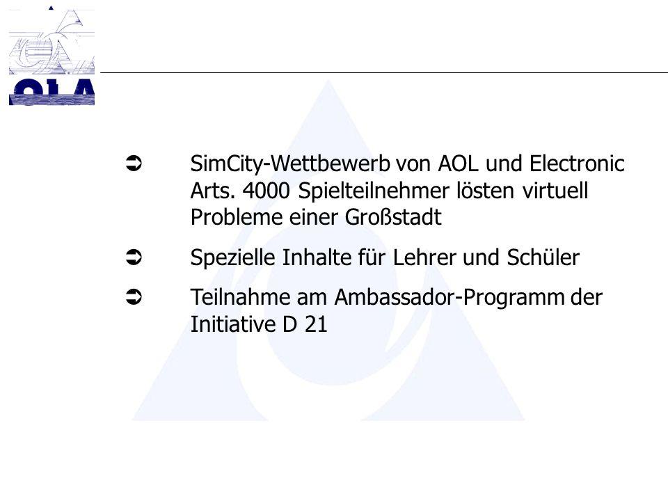 SimCity-Wettbewerb von AOL und Electronic Arts.