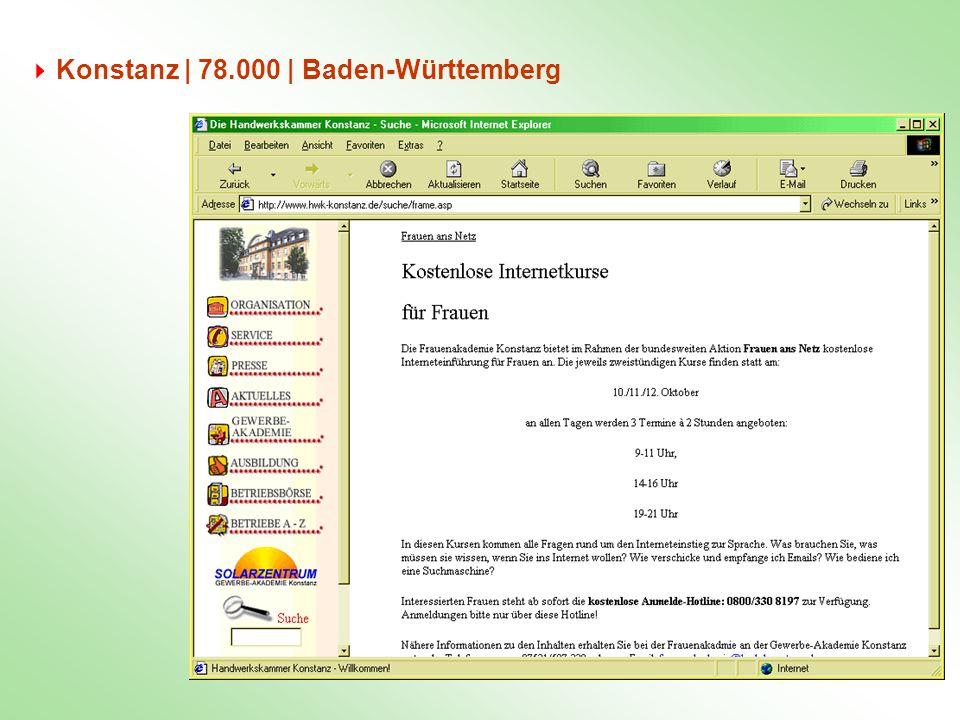 Konstanz | 78.000 | Baden-Württemberg