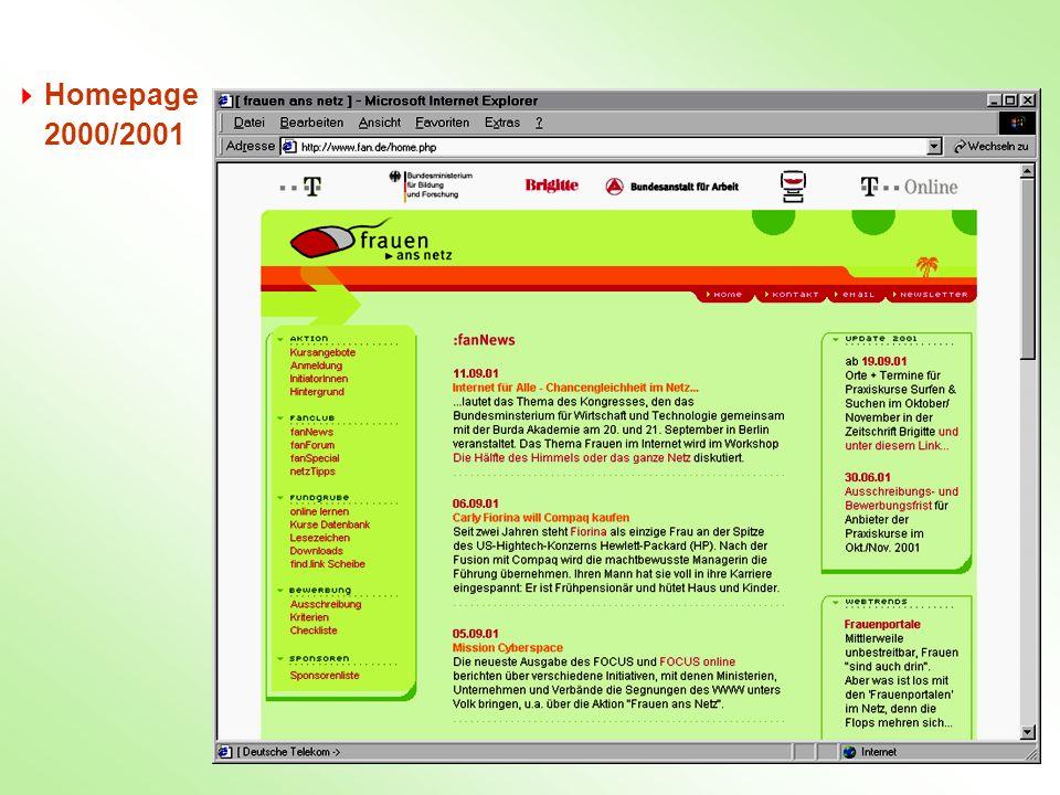 Homepage 2000/2001