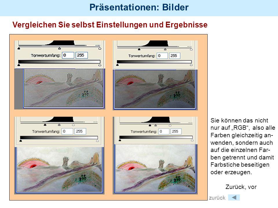 Präsentationen: Bilder Bildgrößen Fotos für den Druck werden so fein wie möglich aufgelöst (von 300 dpi bis zu tausenden von dpi (Punkten pro inch).