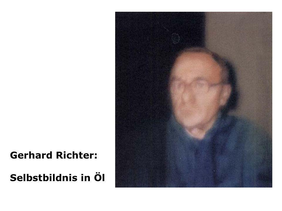Gerhard Richter: Selbstbildnis in Öl