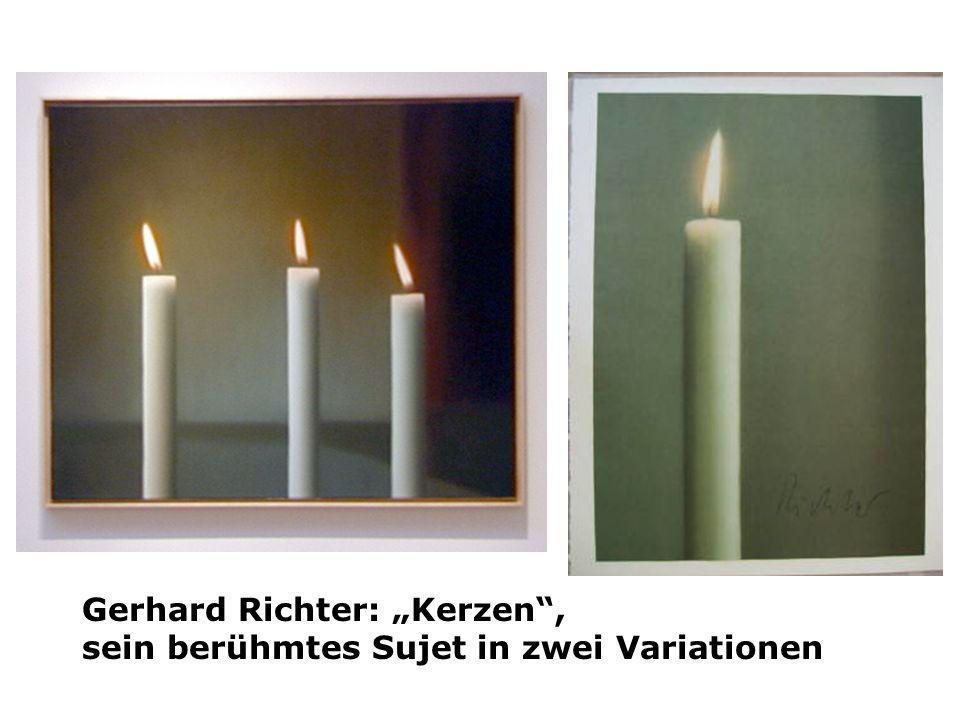 Gerhard Richter: Kerzen, sein berühmtes Sujet in zwei Variationen
