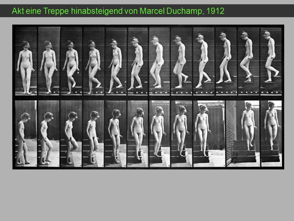 Akt eine Treppe hinabsteigend von Marcel Duchamp, 1912