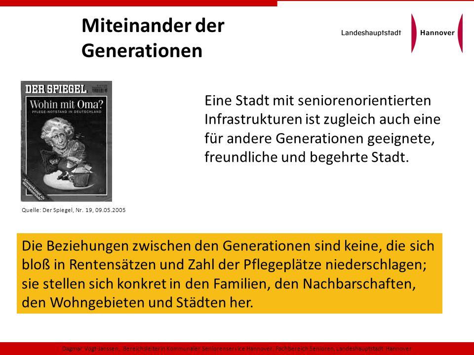 Die Beziehungen zwischen den Generationen sind keine, die sich bloß in Rentensätzen und Zahl der Pflegeplätze niederschlagen; sie stellen sich konkret