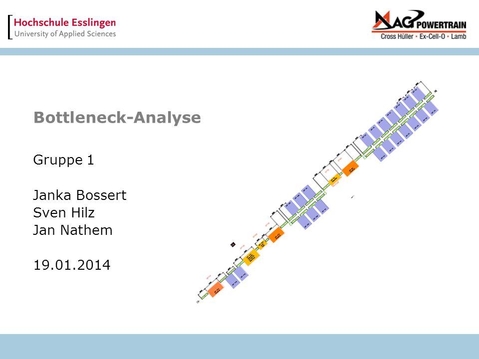 Bottleneck-Analyse Gruppe 1 Janka Bossert Sven Hilz Jan Nathem 19.01.2014