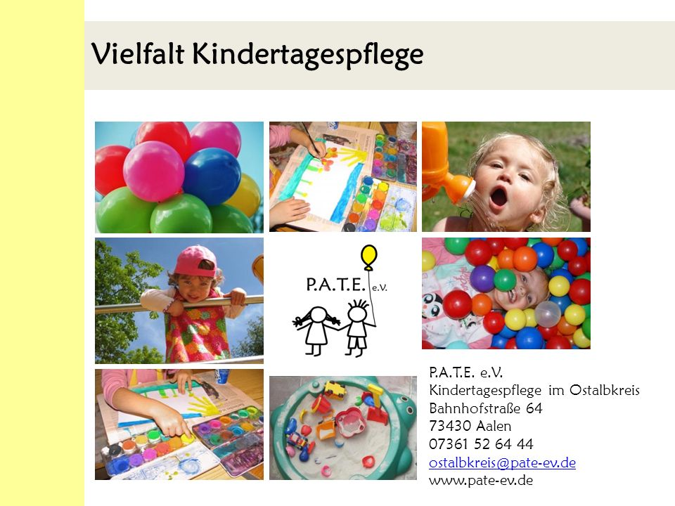 Ausgangspunkt Vormals klassische Kindertagespflege Gesetzliche Grundlage für die (Kinder)Tagespflege in anderen geeigneten Räumen.