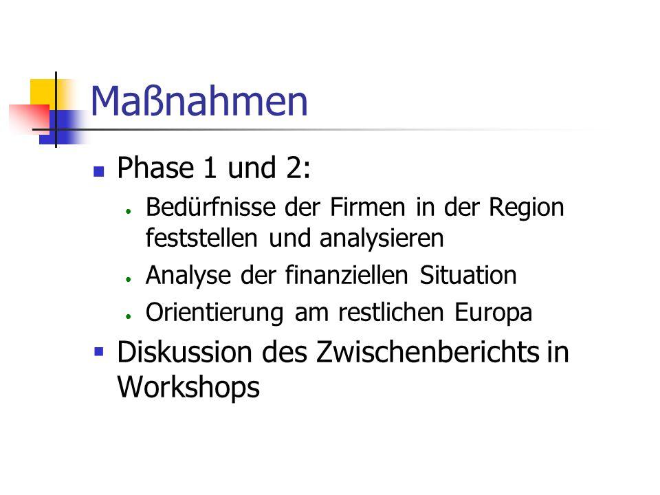Maßnahmen Ablauf: Vorbereitungsphase: Bildung des Steuerungskomitees Definition des Programms