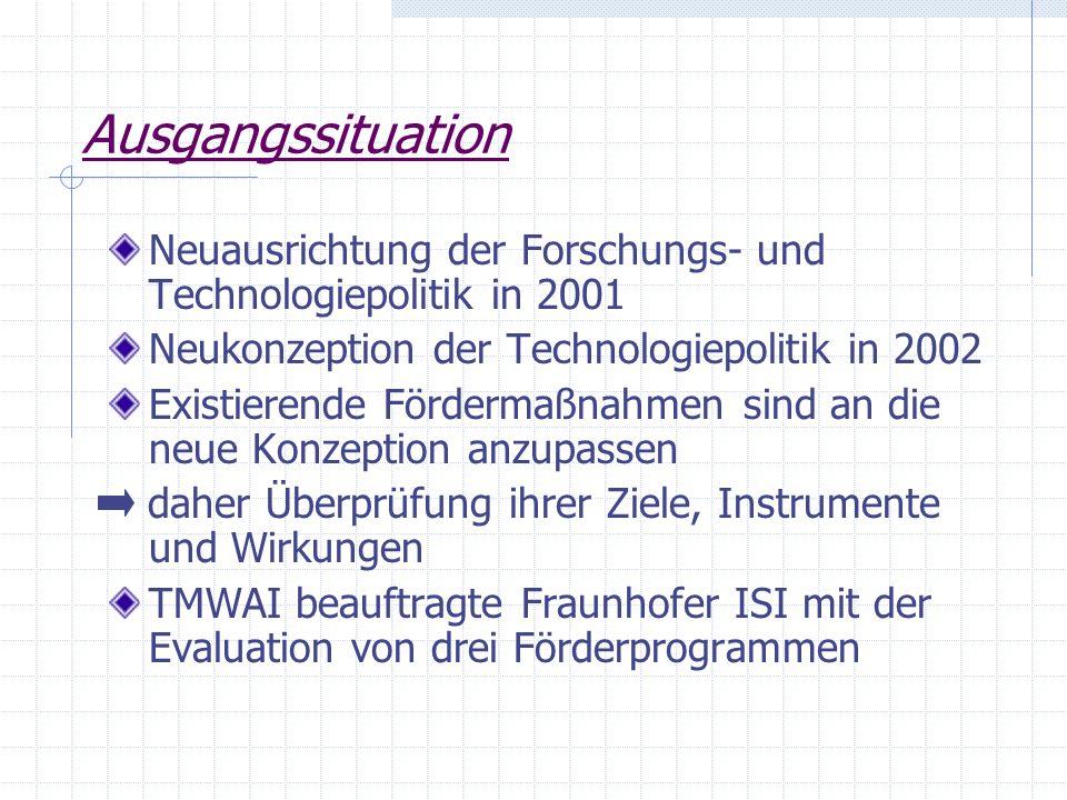 Förderprogramme des Freistaates Thüringen Einzelbetriebliche Technologieförderung (EBTF) Förderung der Beratung sowie des Managementeinsatzes in kleinen und mittleren Unternehmen (TBP) Förderung zur Erlangung, Sicherung und Verwertung von Schutzrechten (Schutzrechtsprogramm)