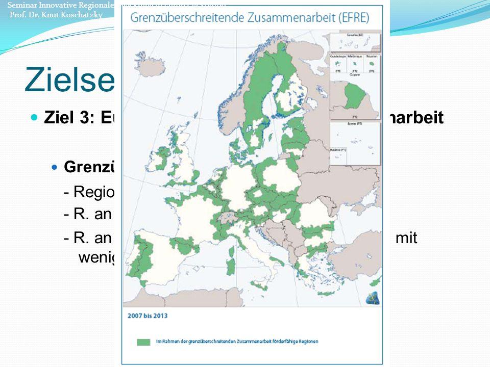 Zielsetzung Ziel 3: Europäische territoriale Zusammenarbeit Grenzüberschreitenden Zusammenarbeit: - Regionen an Landbinnengrenzen - R.